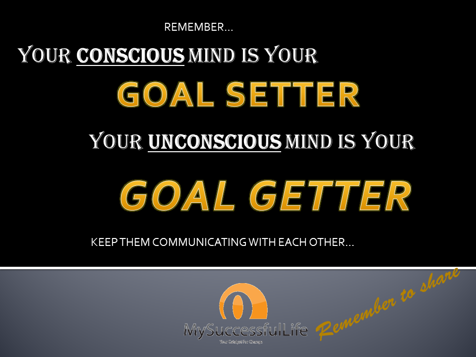 By aligning your thinking to weight loss, your unconscious mind is then able to ensure you get it!
