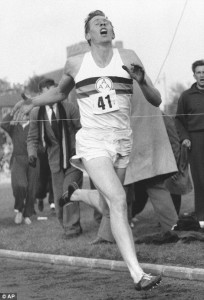 Roger Bannister running the four-minute mile